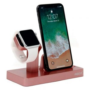 rose gold charging dock 1 300x300 - Charging Dock Stand Station Charger Holder For Apple