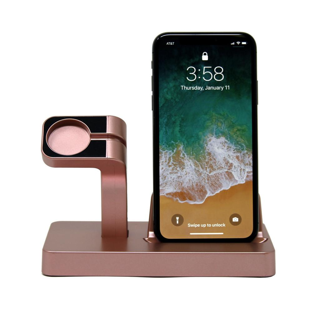 rose gold charging dock 3 - Charging Dock Stand Station Charger Holder For Apple